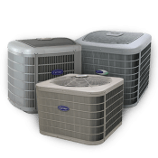 Three air conditioning units grouped together