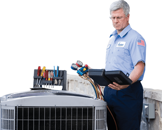 AC Repair technician repair an AC unit