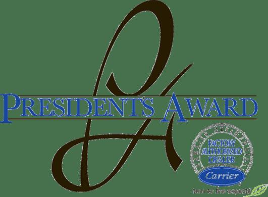 Carrier Factory Authorized Dealer - President's Award