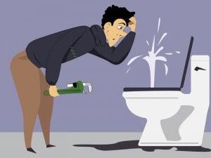 leaking toilet causes