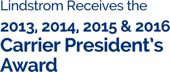 Lindstrom Air Conditioning & Plumbing - Carrier President's Award