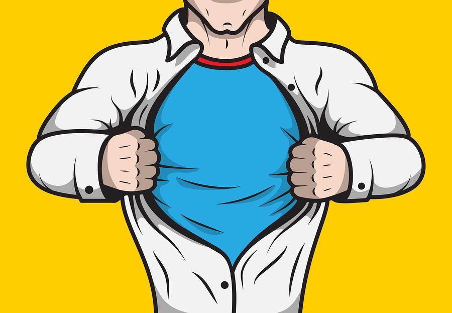 HVAC technician superhero