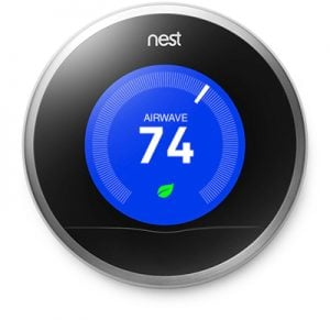 Nest Thermostat in a Fort Lauderdale home