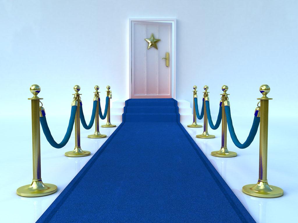 Blue carpet service