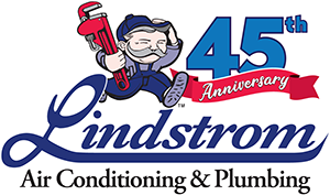 Lindstrom 45th anniversary logo