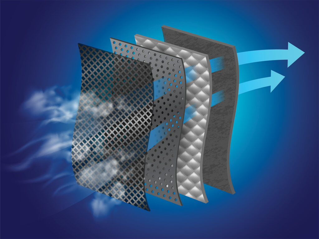 Dust filter layer