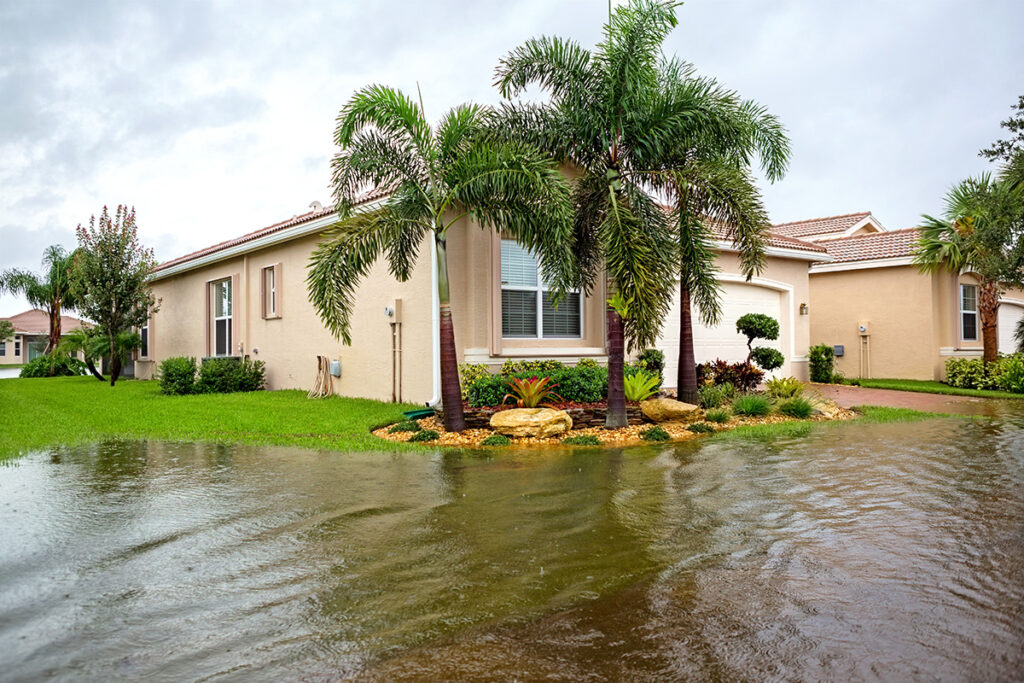 flooding outside a Florida home